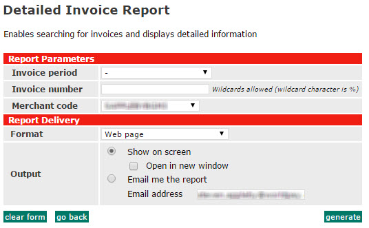 Detailed Invoice Report - Open invoice report