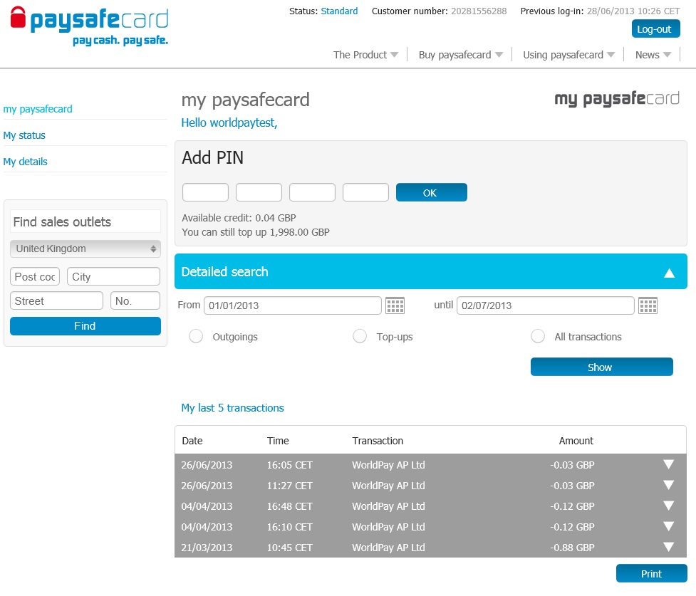 paysafe login